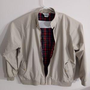 Vintage Izod Jacket-Large-Mens-Light Tan